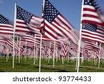 Patriotic Flag Display .