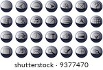 set of 20 shinny high quality... | Shutterstock .eps vector #9377470