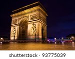 arch of triumph  paris  france | Shutterstock . vector #93775039