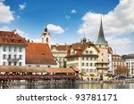 view of town. lucerne.... | Shutterstock . vector #93781171