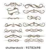 vintage divider and border... | Shutterstock . vector #93782698