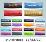 web elements vector button set | Shutterstock .eps vector #93783712