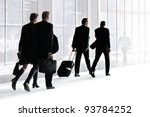 businessmen walking against the ... | Shutterstock . vector #93784252