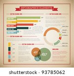 Big Vector set of Infographic elements for your documents and reports (light green version) - stock vector