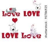 a vector set of funny animals... | Shutterstock .eps vector #93786925