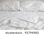 empty bed with disheveled... | Shutterstock . vector #93794983