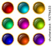 set of web buttons with gems... | Shutterstock . vector #93796633