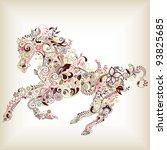 abstract horse | Shutterstock .eps vector #93825685