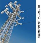power transmission line. 3d... | Shutterstock . vector #93826858