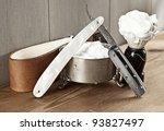 straight razor and shaving... | Shutterstock . vector #93827497
