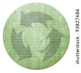 recycled paper craft stick on vintage paper - stock photo