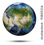 planet earth. elements of this... | Shutterstock . vector #93835216