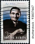 Small photo of UNITED STATES OF AMERICA - CIRCA 2002: A stamp printed in USA shows Irving Berlin, circa 2002