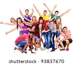 group people  isolated. | Shutterstock . vector #93837670