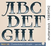 set of vector letters of the... | Shutterstock .eps vector #93839542
