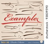 set of vector design swashes... | Shutterstock .eps vector #93839590