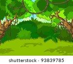 a green tropical forest... | Shutterstock .eps vector #93839785