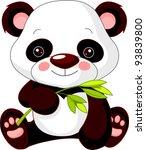 Stock vector fun zoo illustration of cute panda 93839800