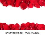 Stock photo beautiful petals of red roses isolated on white 93840301