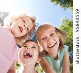 Happy Children Having Fun In...