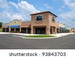 Generic New Shopping Center - stock photo