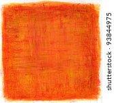 orange gouache  texture | Shutterstock . vector #93844975