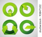 arrow icons and symbols. design ... | Shutterstock .eps vector #93847102