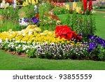 Stock photo flower garden background 93855559