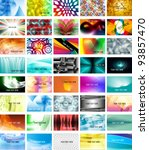 Set Of 40 Mixed Business Cards