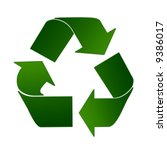 recycling sign in light and... | Shutterstock . vector #9386017