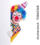 Happy Girl Clown In Birthday...