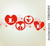 valentine's day greeting card | Shutterstock . vector #93860464