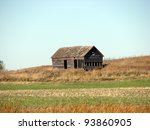 Gray Weathered Farm Building