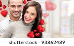 portrait of young couple with...   Shutterstock . vector #93862489