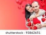 beautiful young couple... | Shutterstock . vector #93862651