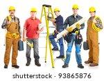 group of industrial workers... | Shutterstock . vector #93865876