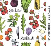 salad seamless background | Shutterstock .eps vector #93871189