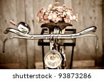 Old Bicycle And Flowers
