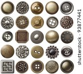 Vintage metal sewing buttons...