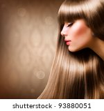 blond hair.beautiful woman with ... | Shutterstock . vector #93880051