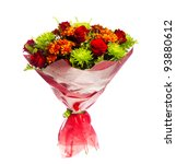 Bouquet Of Gerberas  Roses And...