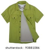 green shirt - stock photo