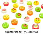 many differnt tasty candies on... | Shutterstock . vector #93888403