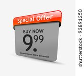 special offer banner set vector | Shutterstock .eps vector #93891250
