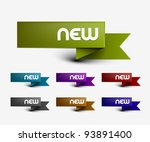 new labels  tag  sticker design ... | Shutterstock .eps vector #93891400