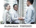 asian business team outdoor | Shutterstock . vector #93893005