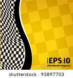vector checkered racing... | Shutterstock .eps vector #93897703