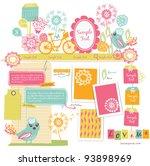 cute scrapbook elements  15  | Shutterstock .eps vector #93898969