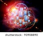 rendering of cellular phones... | Shutterstock . vector #93908890