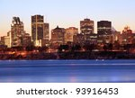 Montreal Skyline At Dusk  Canada